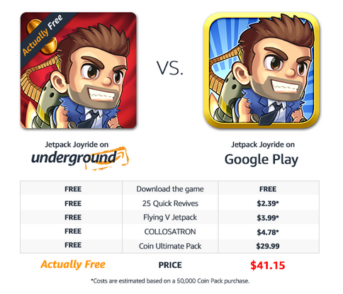 The same games you love. With Amazon Underground, they're actually free.
