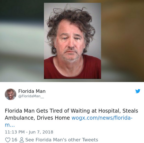 No one knows weird and mysterious twists like Florida