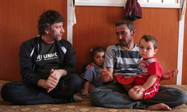 Neil Gaiman wrote a poem for refugees from 1,000 tweets