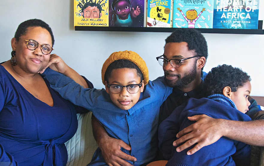 Meet the parents who walked into a bookstore looking for books starring Black children to read with their son—and started their own independent pop-up bookstore when they couldn't find them
